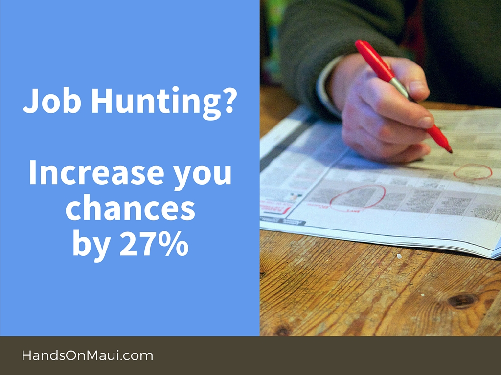 Job Hunting? Increase your chances by 27%