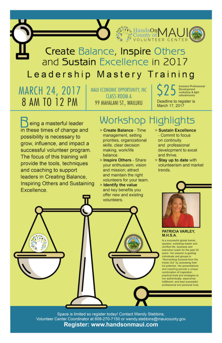 Leadership Mastery Training 2017 Poster