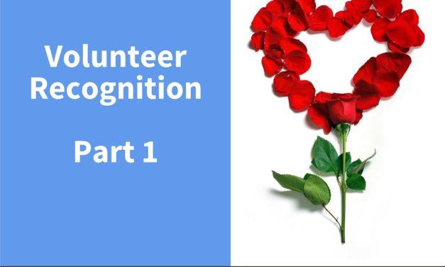 Volunteer Recognition Part 1