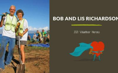 Bob and Lis Richardson — 2021 Volunteer Heroes