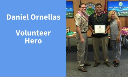Daniel Ornellas, Volunteer Hero