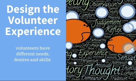 Design the Volunteer Experience
