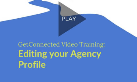 Editing Your Agency Profile on GetConnected