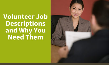 Volunteer Job Descriptions and Why You Need Them
