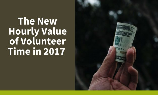 The New Hourly Value of Volunteer Time in 2017