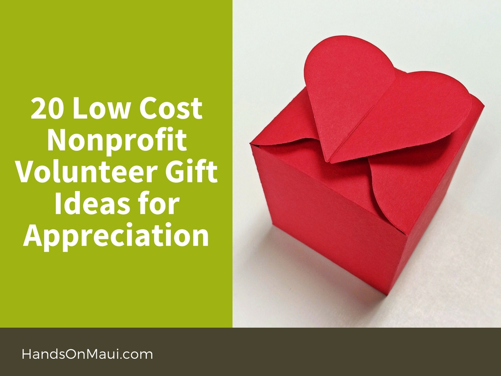 20 Low Cost Nonprofit Volunteer Gift Ideas for Appreciation ...