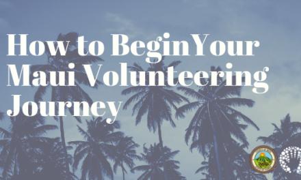 How To Begin Your Maui Volunteering Journey