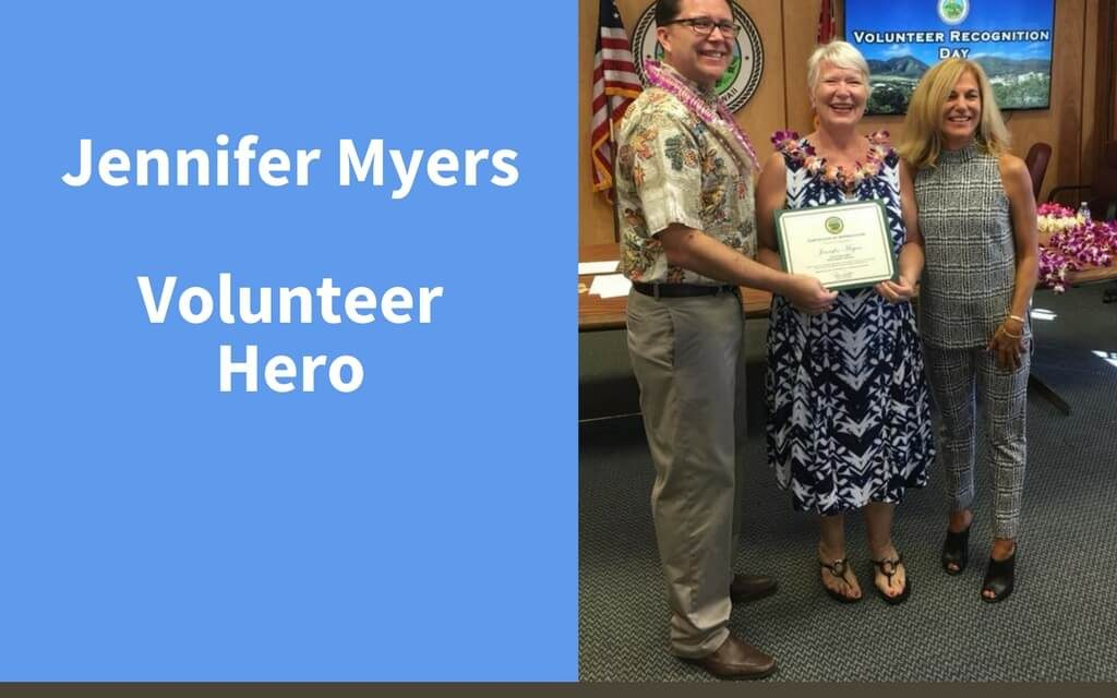 Jennifer Myers, Volunteer Hero