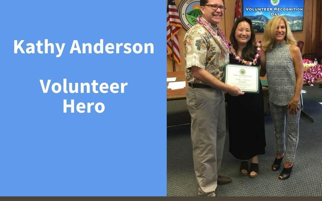 Kathy Anderson, Volunteer Hero