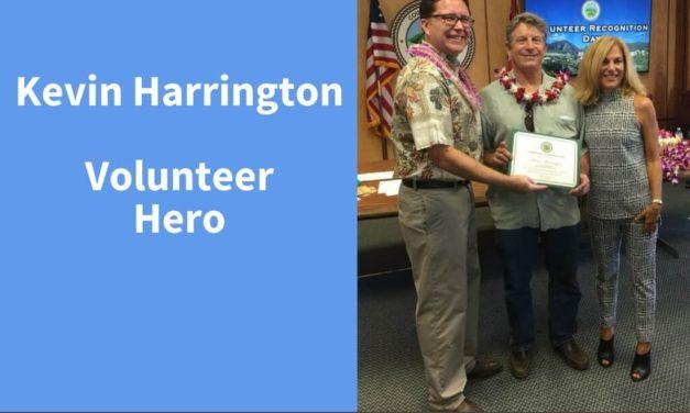 Kevin Harrington, Volunteer Hero