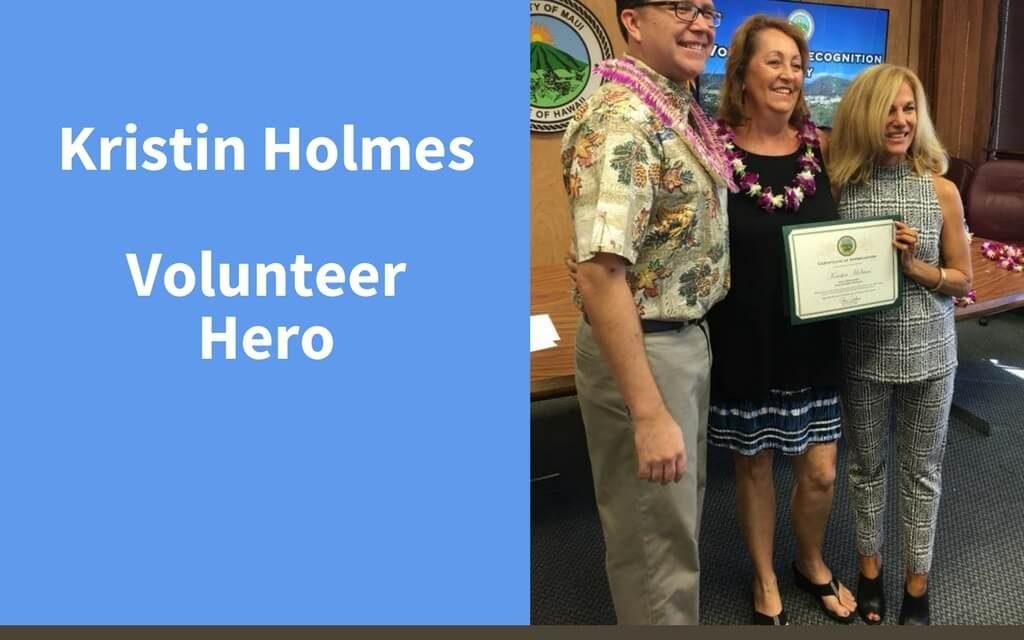 Kristin Holmes, Volunteer Hero