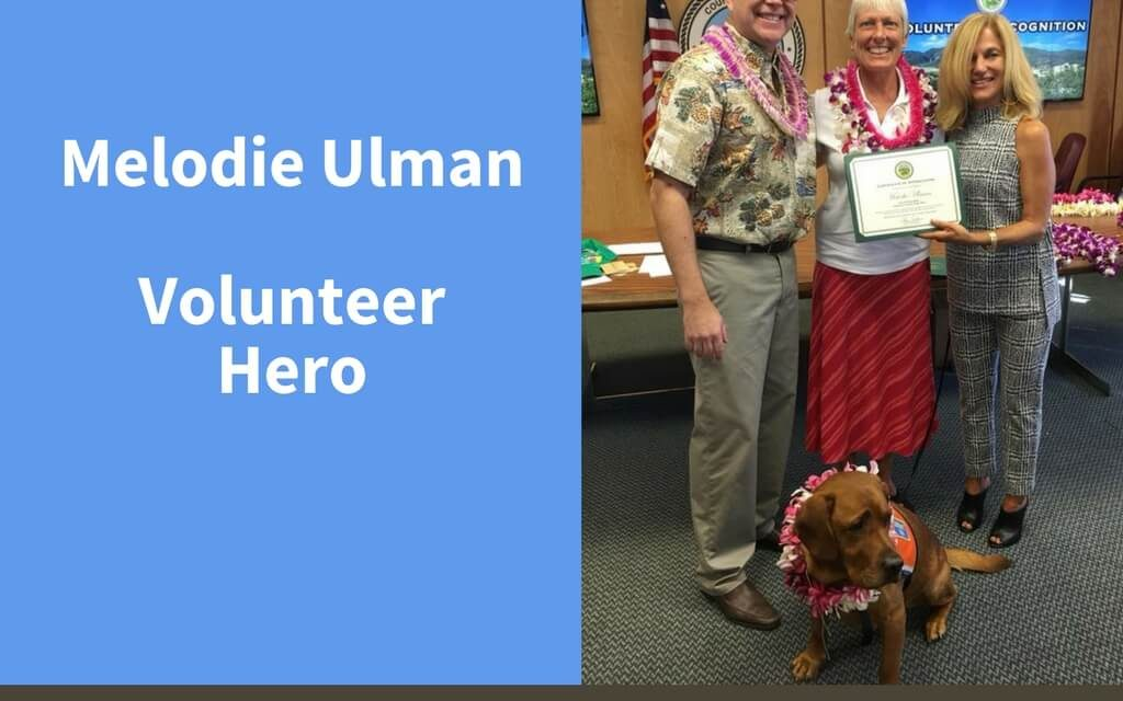 Melodie Ulman, Volunteer Hero