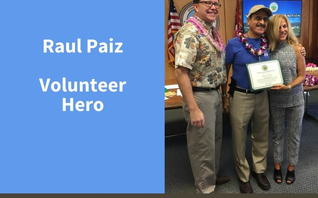 Raul Paiz, Volunteer Hero