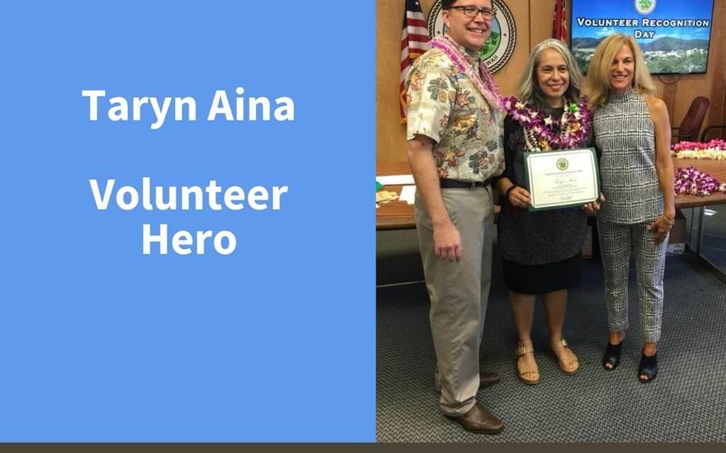 Taryn Aina, Volunteer Hero