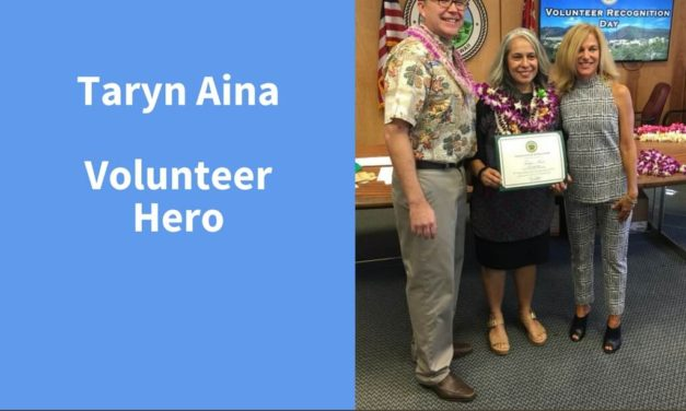 Taryn Aina, Volunteer Hero