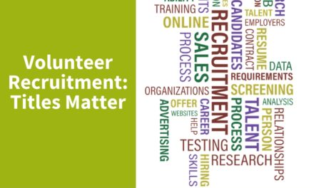 Volunteer Recruitment, Titles Matter
